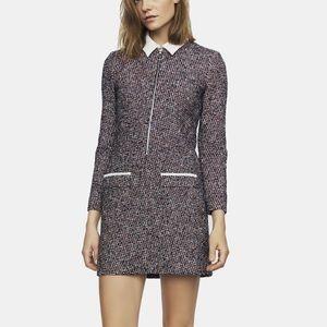 Maje collar tweed dress